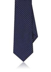 Barneys New York Men's Neat-Pattern Silk-Cotton Necktie