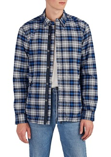 Barneys New York Men's Plaid Cotton Flannel Jacket