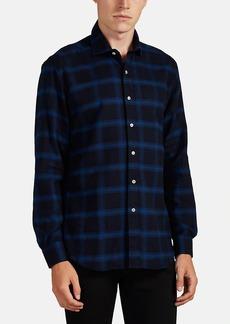 Barneys New York Men's Plaid Cotton Flannel Shirt
