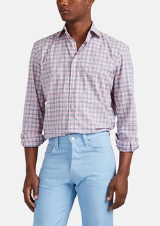 Barneys New York Men's Plaid Cotton Shirt
