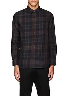 Barneys New York Men's Plaid Cotton Twill Shirt