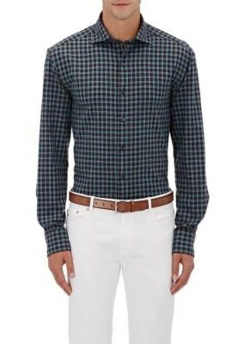 Barneys New York Men's Plaid Plain-Weave Shirt