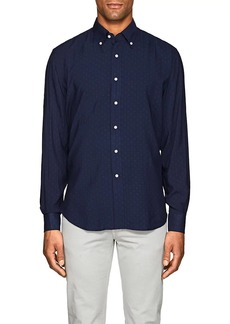 Barneys New York Men's Plain-Weave Button-Down Shirt