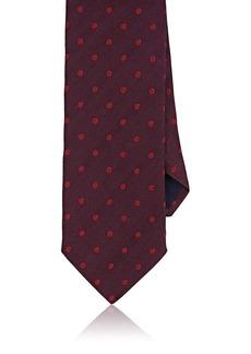 Barneys New York Men's Polka Dot Silk-Cotton Necktie