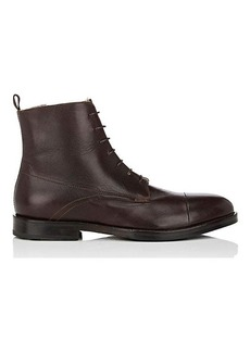 Barneys New York Men's Shearling-Lined Leather Boots