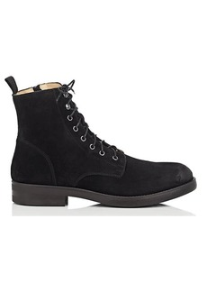 Barneys New York Men's Side-Zip Waxed Suede Boots