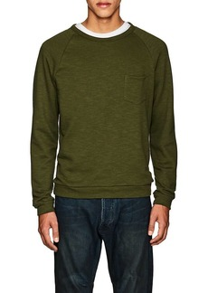 Barneys New York Men's Slub Cotton-Blend Terry Sweatshirt