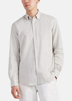 Barneys New York Men's Slub Cotton-Linen Button-Down Shirt
