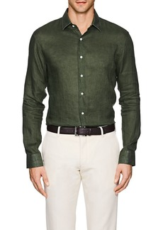 Barneys New York Men's Slub Linen Shirt
