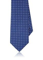Barneys New York Men's Square-Medallion-Print Silk Necktie