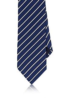 Barneys New York Men's Striped Silk-Cotton Satin Necktie