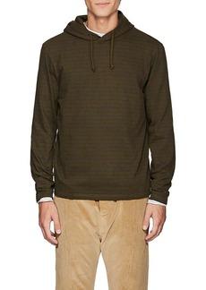 Barneys New York Men's Striped Cotton Hoodie