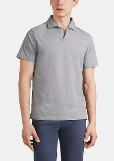 Barneys New York Men's Striped Cotton Jersey Polo Shirt