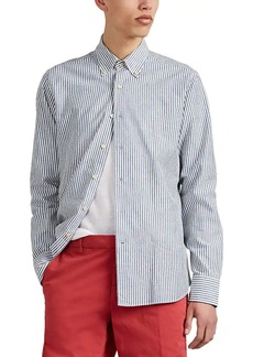 Barneys New York Men's Striped Cotton Oxford Cloth Button-Down Shirt