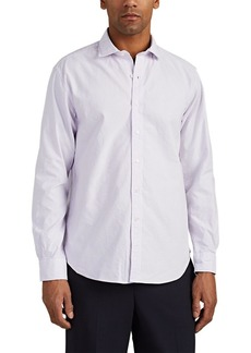 Barneys New York Men's Striped Cotton Oxford Cloth Shirt