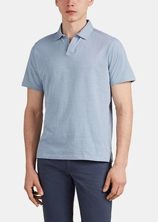 Barneys New York Men's Striped Cotton Polo Shirt