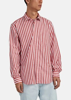 Barneys New York Men's Striped Cotton Shirt