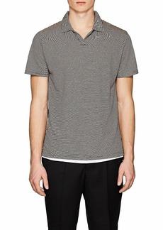 Barneys New York Men's Striped Linen-Blend Polo Shirt