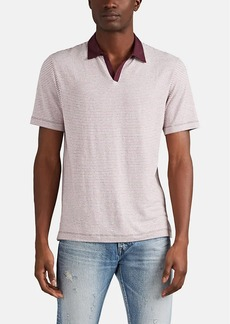 Barneys New York Men's Striped Modal-Blend Polo Shirt
