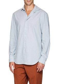Barneys New York Men's Striped Slub Cotton Shirt