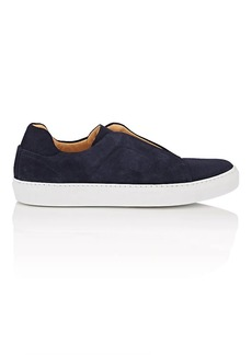 Barneys New York Men's Suede Slip-On Sneakers