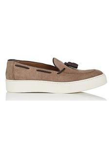 Barneys New York Men's Tasseled Suede Slip-On Sneakers