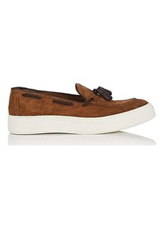Barneys New York Men's Tasseled Suede Slip-On Sneakers