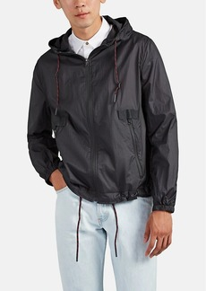 Barneys New York Men's Tech Crepe Hooded Jacket