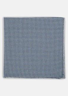Barneys New York Men's Textured Cotton Pocket Square - Navy