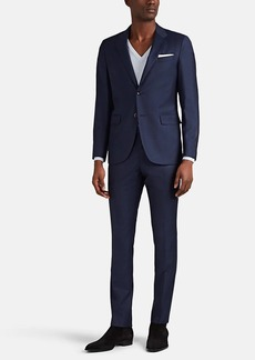 Barneys New York Men's Traveler Neat Worsted Wool Two-Button Suit