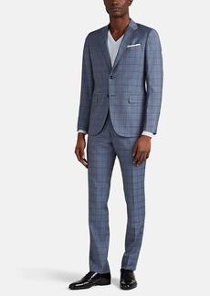 Barneys New York Men's Traveler Mélange Wool Two-Button Suit
