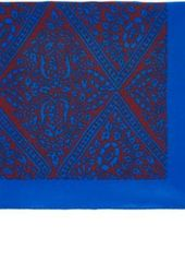 Barneys New York Men's Vine-Patterned Silk Pocket Square