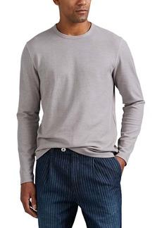 Barneys New York Men's Waffle-Knit Cotton-Blend Long-Sleeve Shirt