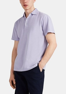 Barneys New York Men's Washed Cotton Polo Shirt