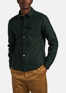 Barneys New York Men's Wool-Blend Felt Shirt Jacket