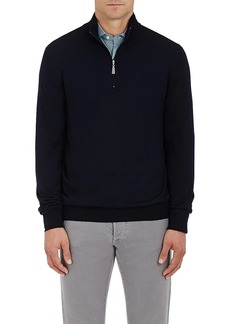 Barneys New York Men's Wool Half-Zip Sweater