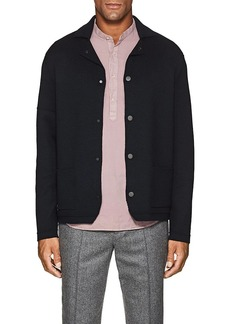 Barneys New York Men's Wool Jacket-Style Cardigan