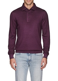 Barneys New York Men's Wool Polo Sweater