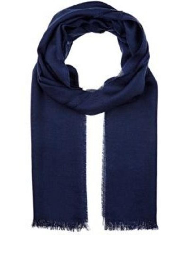 Barneys New York Men's Wool-Silk Oversized Scarf-BLUE