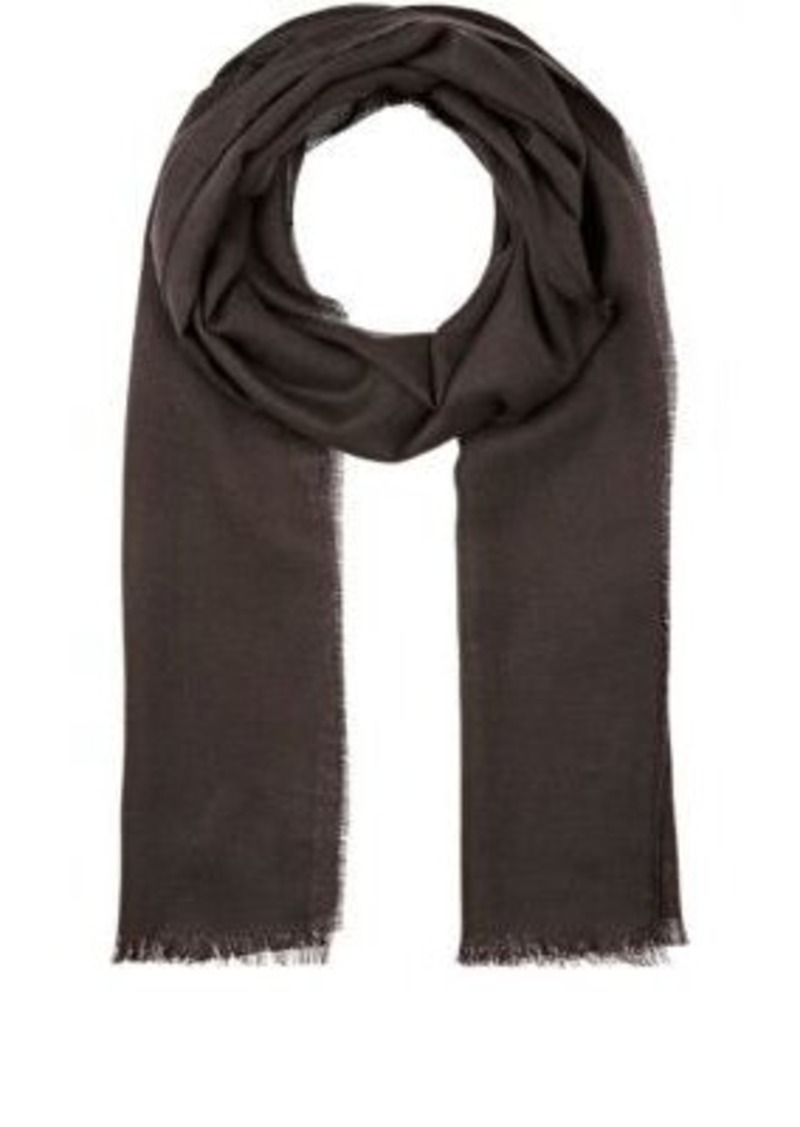 Barneys New York Men's Wool-Silk Oversized Scarf-GREY