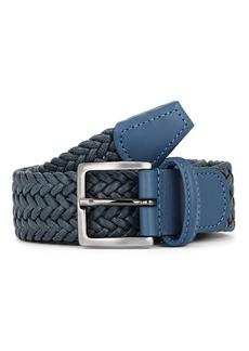 Barneys New York Men's Woven Cotton Belt