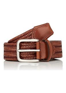 Barneys New York Men's Woven Leather Belt