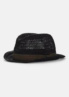 Barneys New York Men's Woven Straw Hat