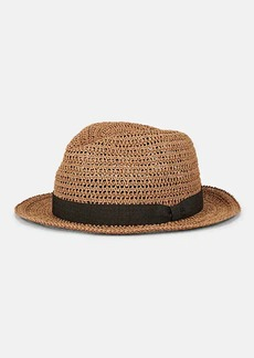 Barneys New York Men's Woven Straw Hat