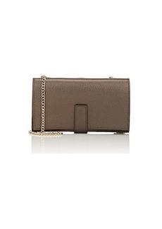 Barneys New York Women's Amelia Leather Chain Wallet - Dark Gray