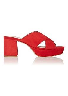 Barneys New York Women's Andrea Suede Platform Sandals