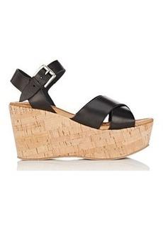 Barneys New York Women's Ankle-Strap Platform Wedge Sandals