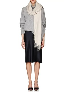 Barneys New York Women's Arran Cashmere Flannel Scarf - Cream