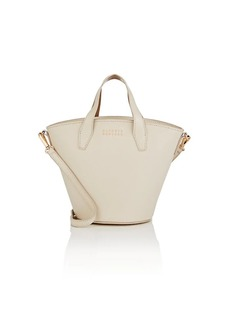 Barneys New York Women's Athena Leather Bucket Bag-Beige, Tan
