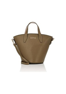 Barneys New York Women's Athena Leather Bucket Bag - Olive